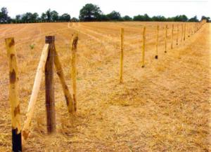 Pose de clôture herbagère par la SAS TRICHET ENVIRONNEMENT